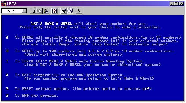 Lets Make A Wheel Lottery Software Manual